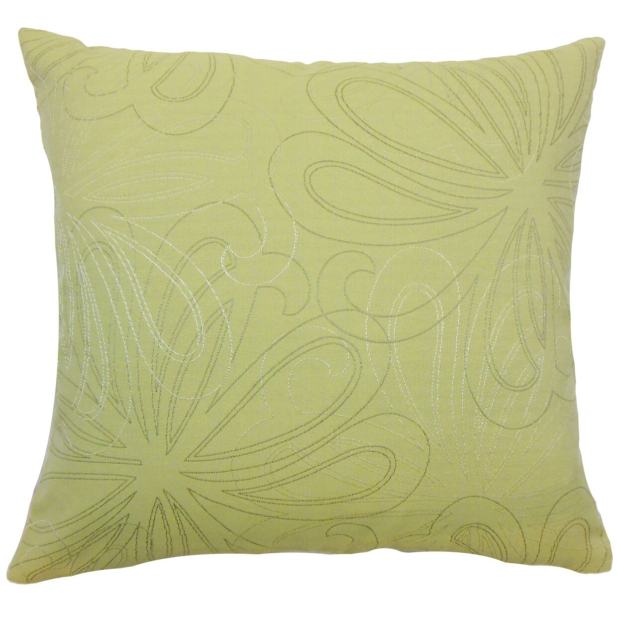 Pomona Floral Throw Pillow Color: Hemlock, Size: 22
