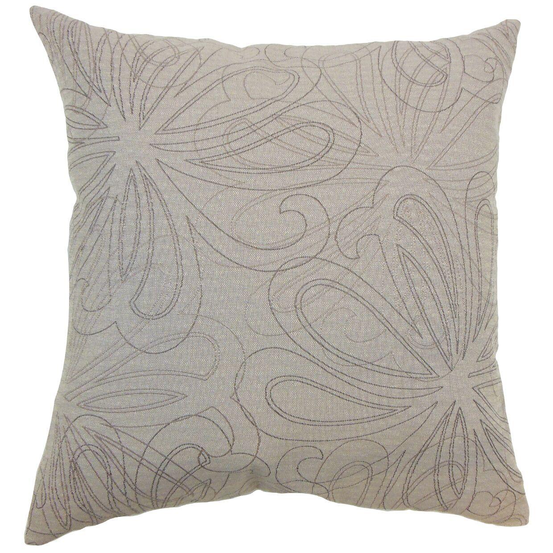 Pomona Floral Bedding Sham Size: King, Color: Sand