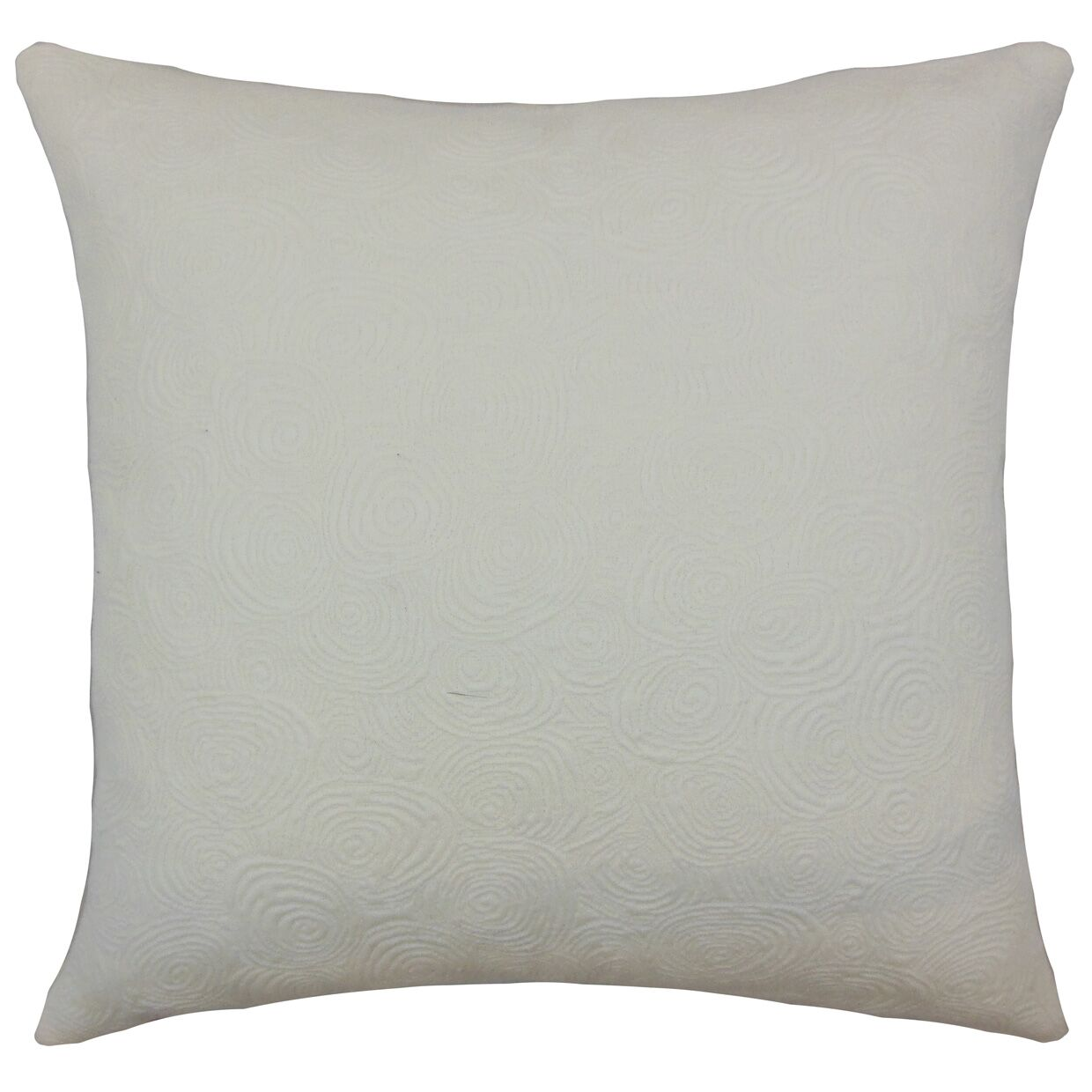 Bay Graphic Cotton Throw Pillow Color: Ivory, Size: 20