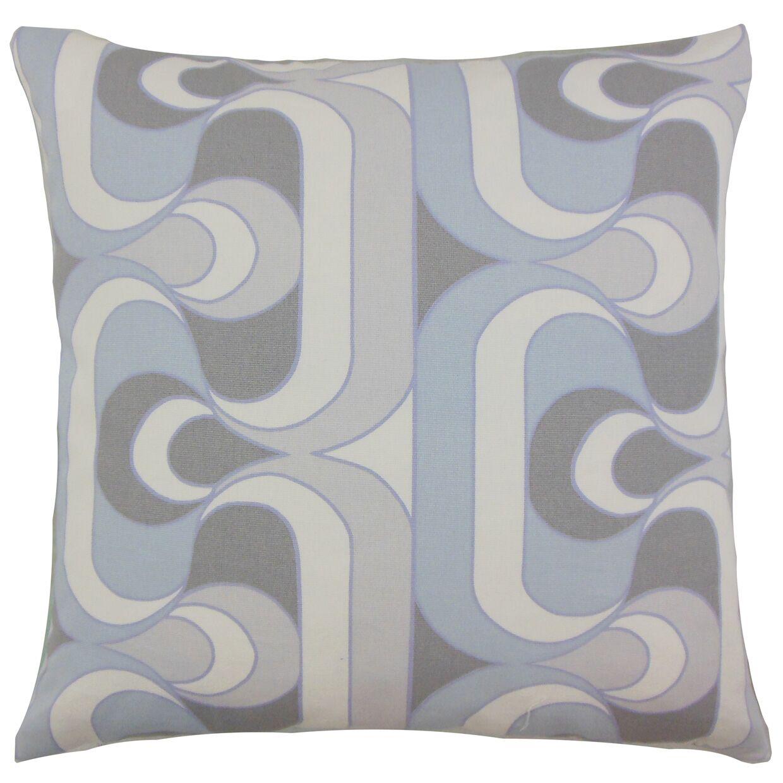 Nairobi Cotton Throw Pillow Color: Pewter, Size: 24