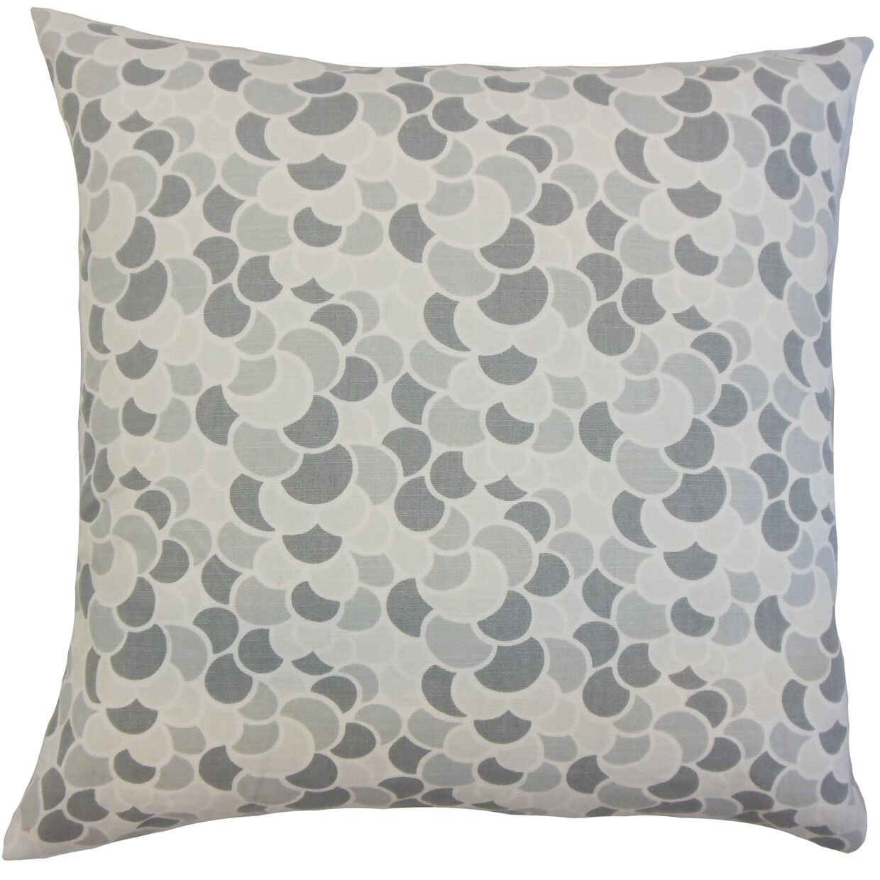 Lily Geometric Bedding Sham Size: King, Color: Pewter