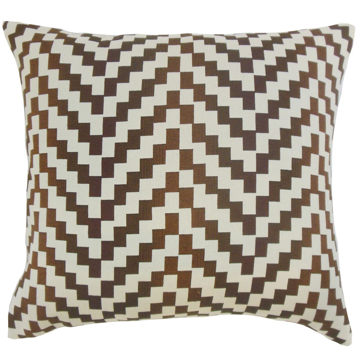 Dhiren Geometric Throw Pillow Color: Mahogany, Size: 22