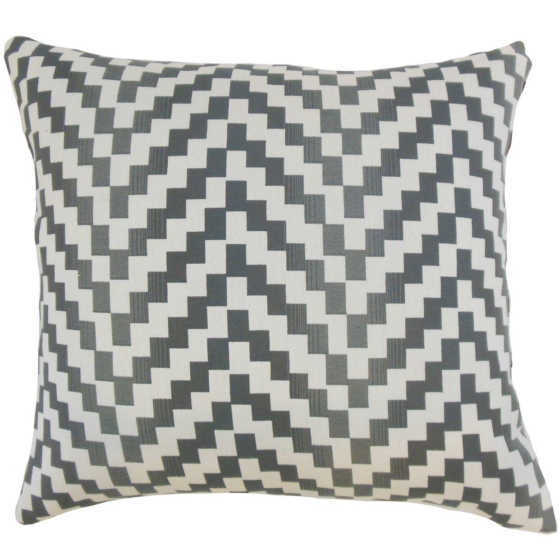 Dhiren Geometric Throw Pillow Color: Zinc, Size: 24
