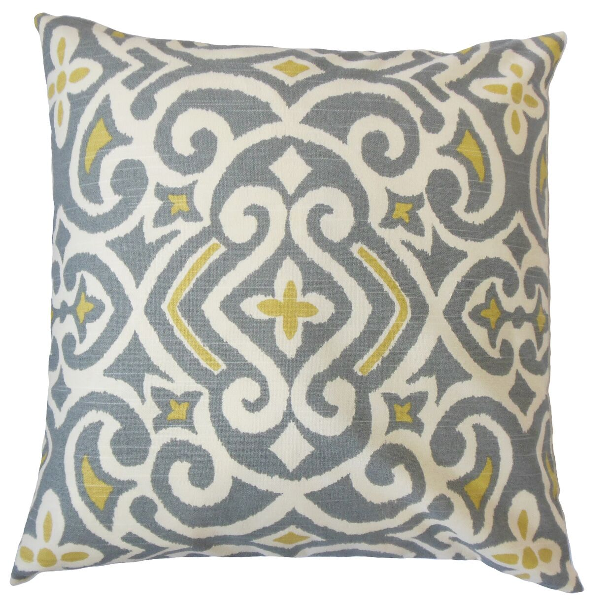 Caraf Cotton Throw Pillow Color: Greystone, Size: 22