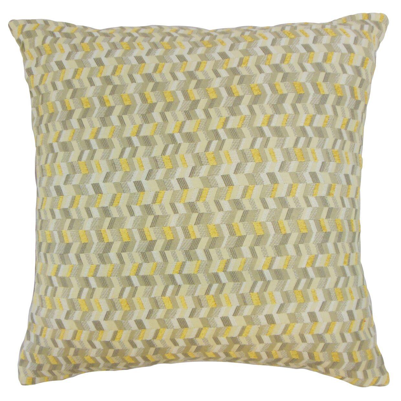 Bloem Chevron Bedding Sham Color: Citron, Size: King