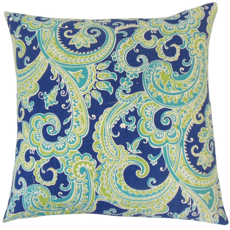 Fiachra Throw Pillow Color: Turquoise, Size: 20