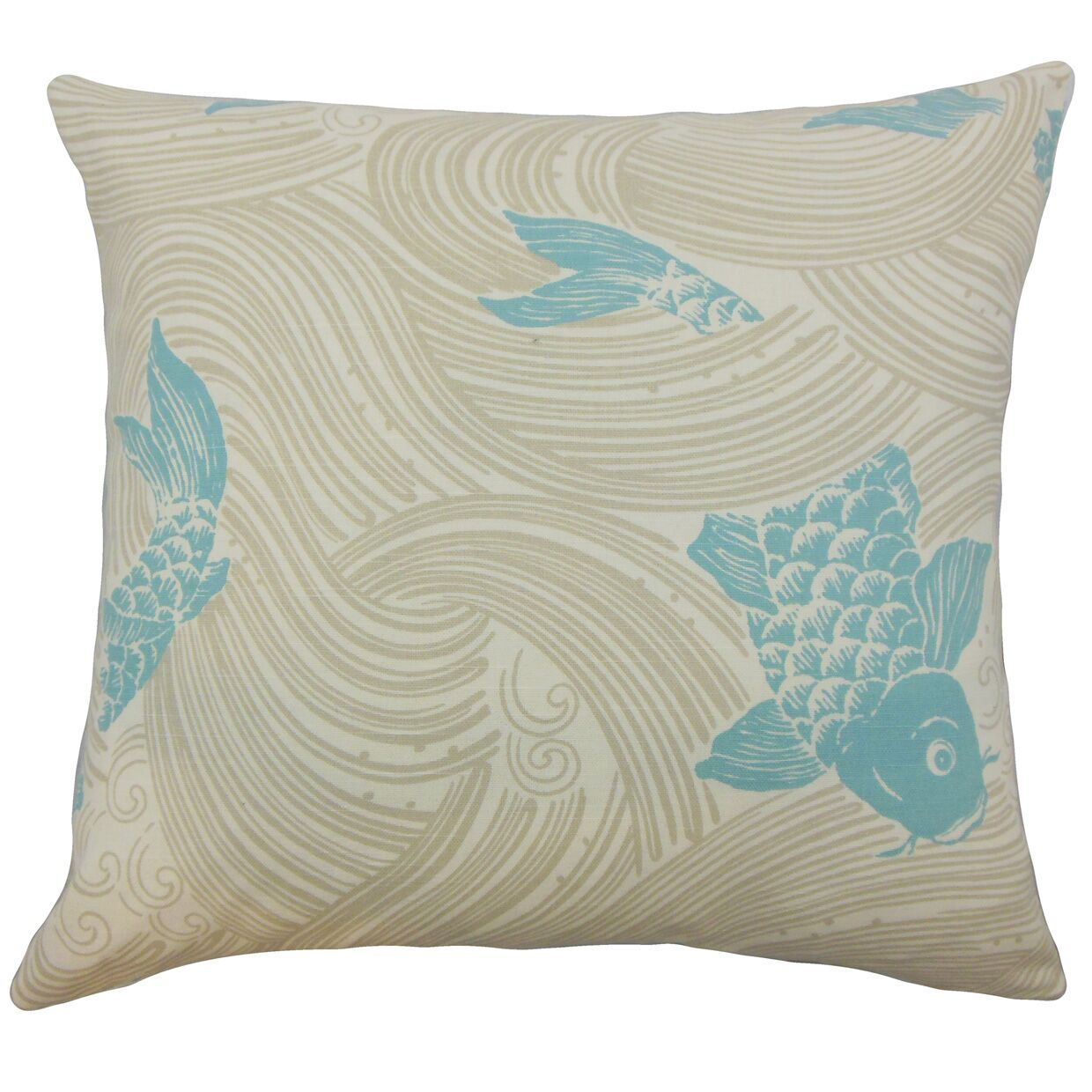 Ailies Graphic Bedding Sham Size: Standard, Color: Lagoon