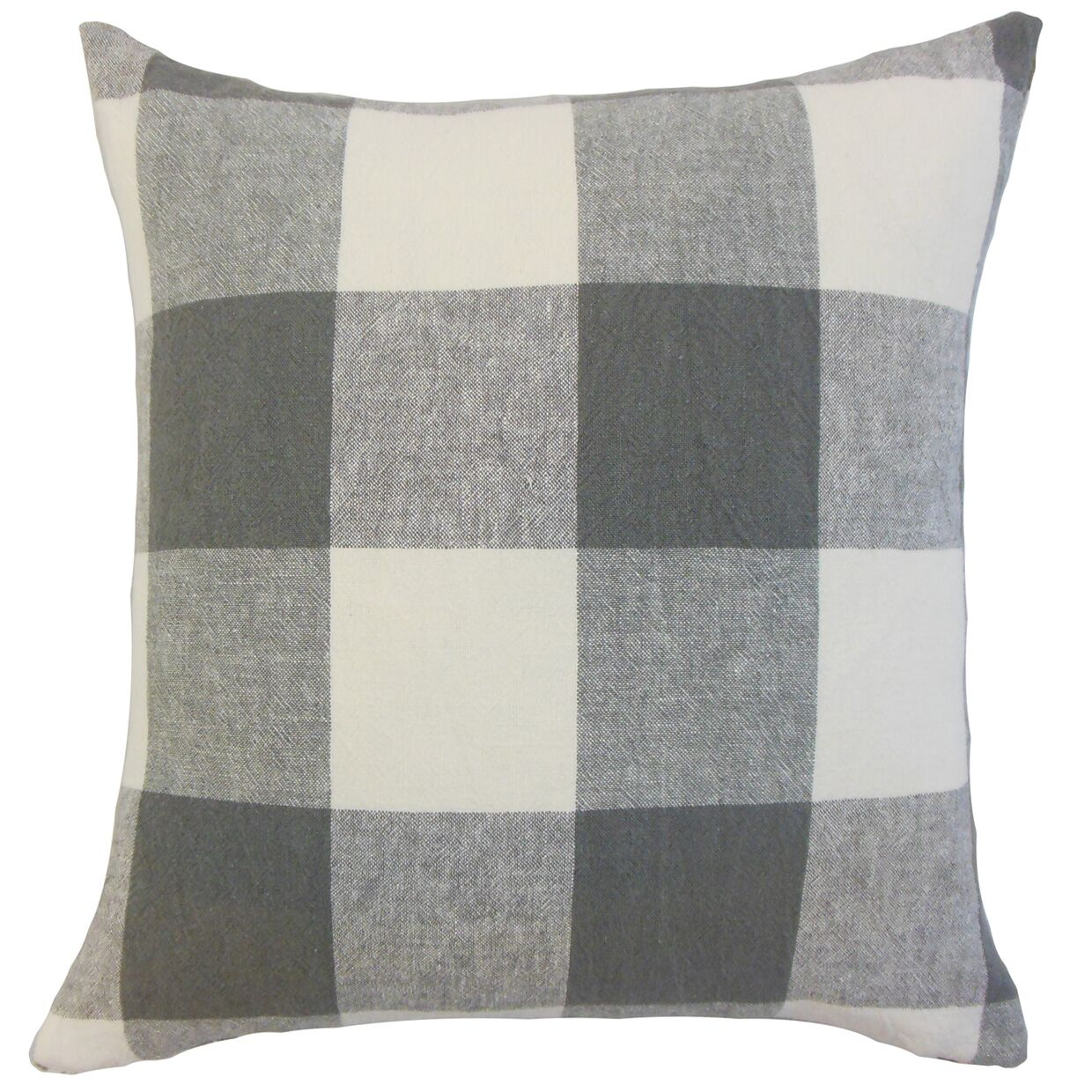 Amory Plaid Throw Pillow Color: Coal, Size: 22
