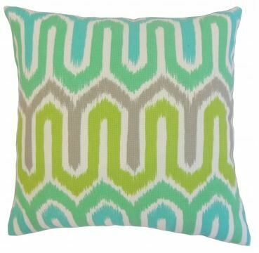 Cahya Geometric Outdoor Throw Pillow Size: 24