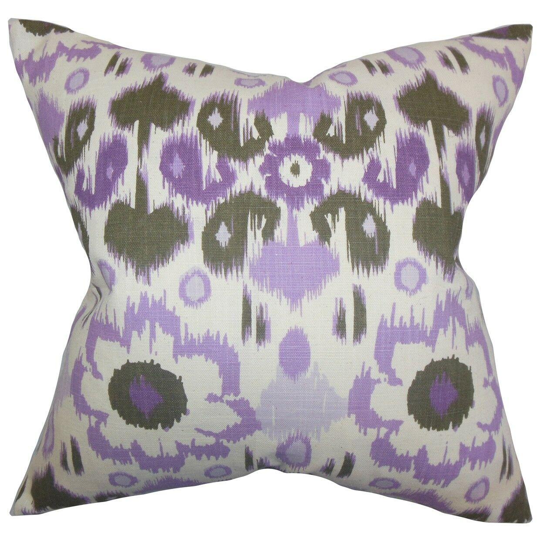 Schiavo Ikat Bedding Sham Size: King, Color: Purple