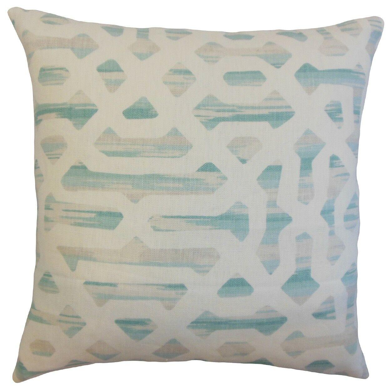 Farok Geometric Bedding Sham Color: Beach, Size: Standard