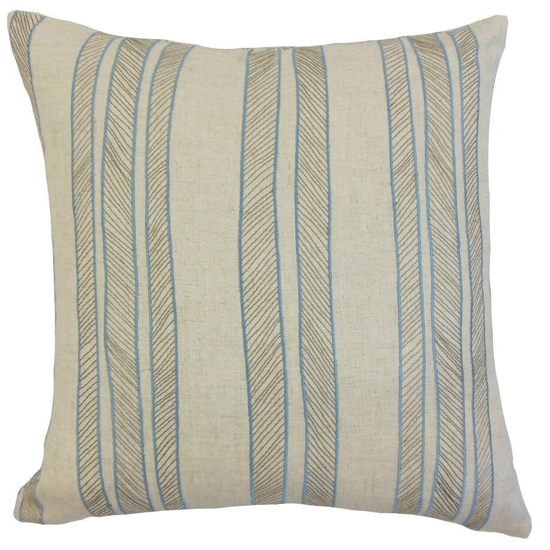 Drum Stripes Bedding Sham Size: Euro, Color: Grass