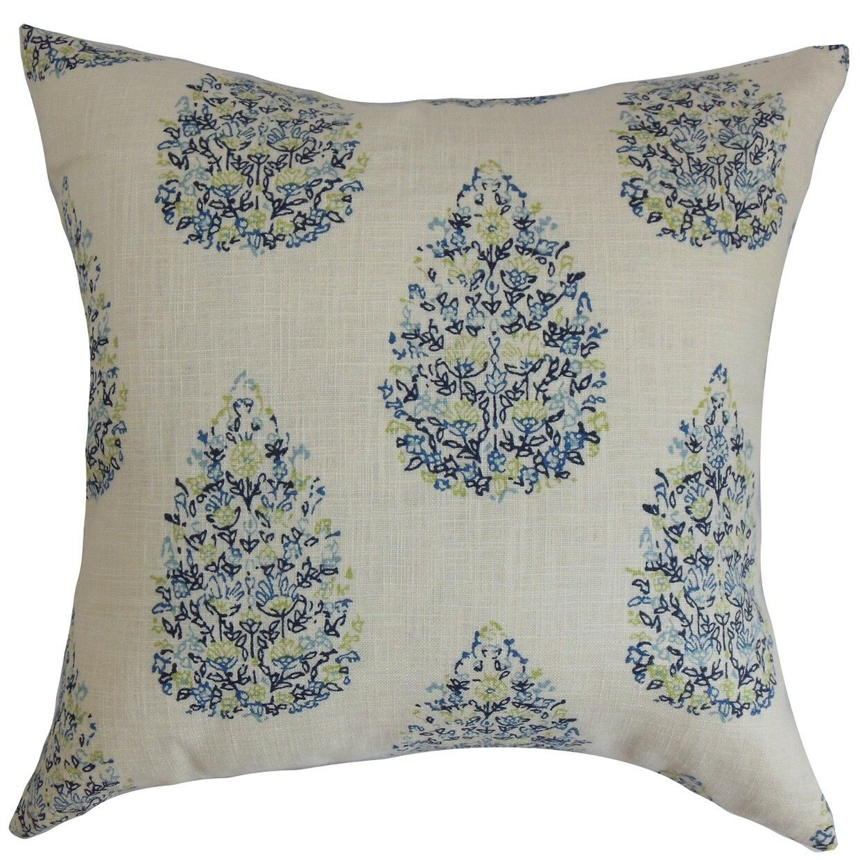 Faeyza Floral Bedding Sham Size: King, Color: Blue/Green