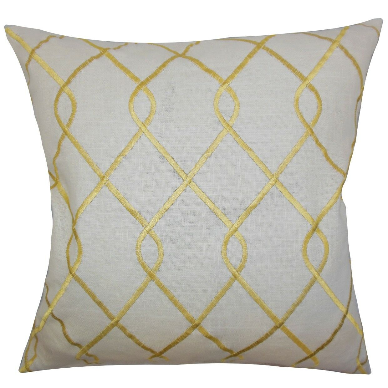 Jolo Geometric Bedding Sham Size: Euro, Color: Yellow