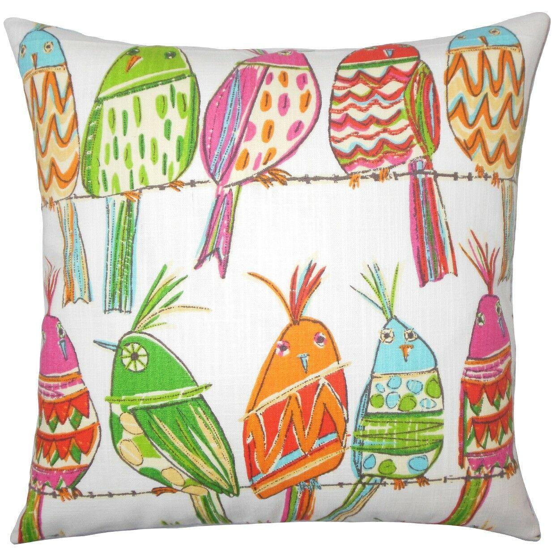 Tarhe Graphic Cotton Throw Pillow Size: 22