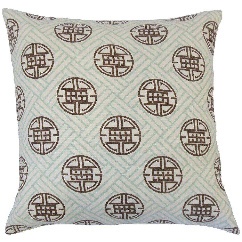 Delit Linen Throw Pillow Color: Surf, Size: 24
