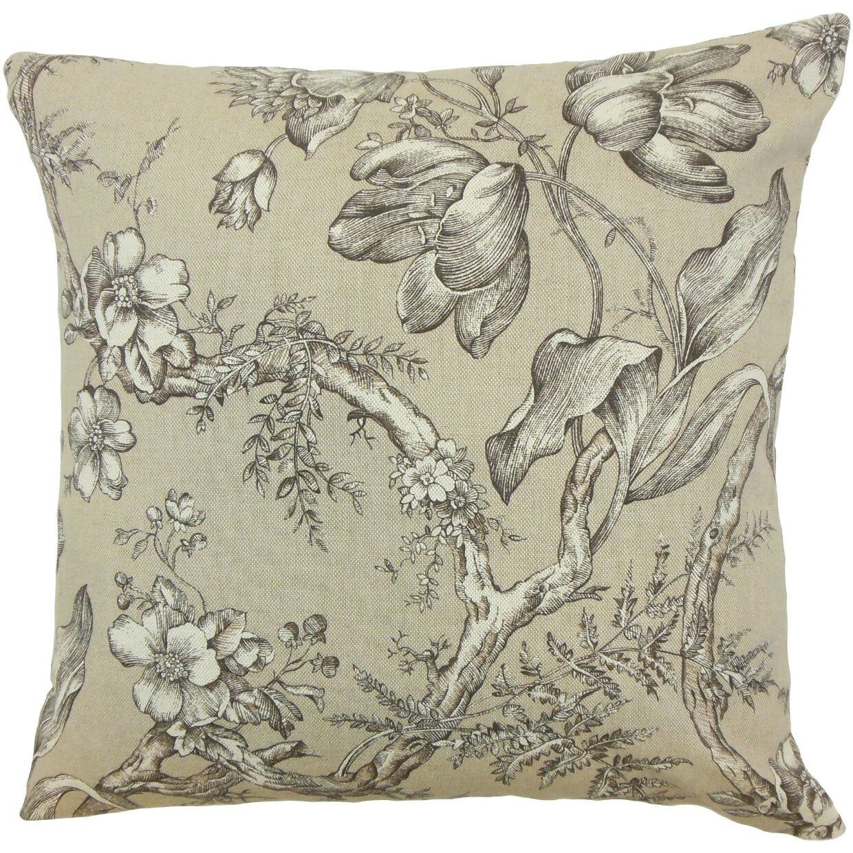 Blair Floral Throw Pillow Size: 22