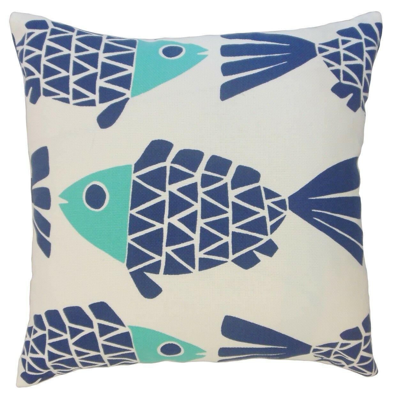 Edana Graphic Outdoor Throw Pillow Size: 22