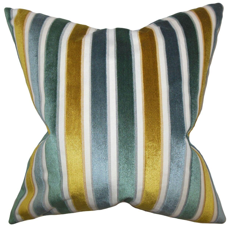 Alton Stripes Throw Pillow Color: Lagoon, Size: 22