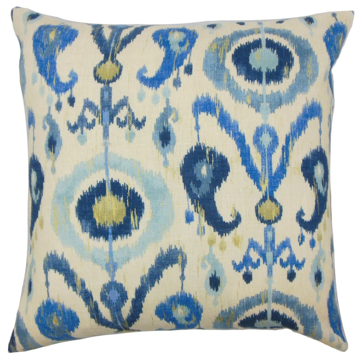 Abital Ikat Cotton Throw Pillow Cover Size: 20