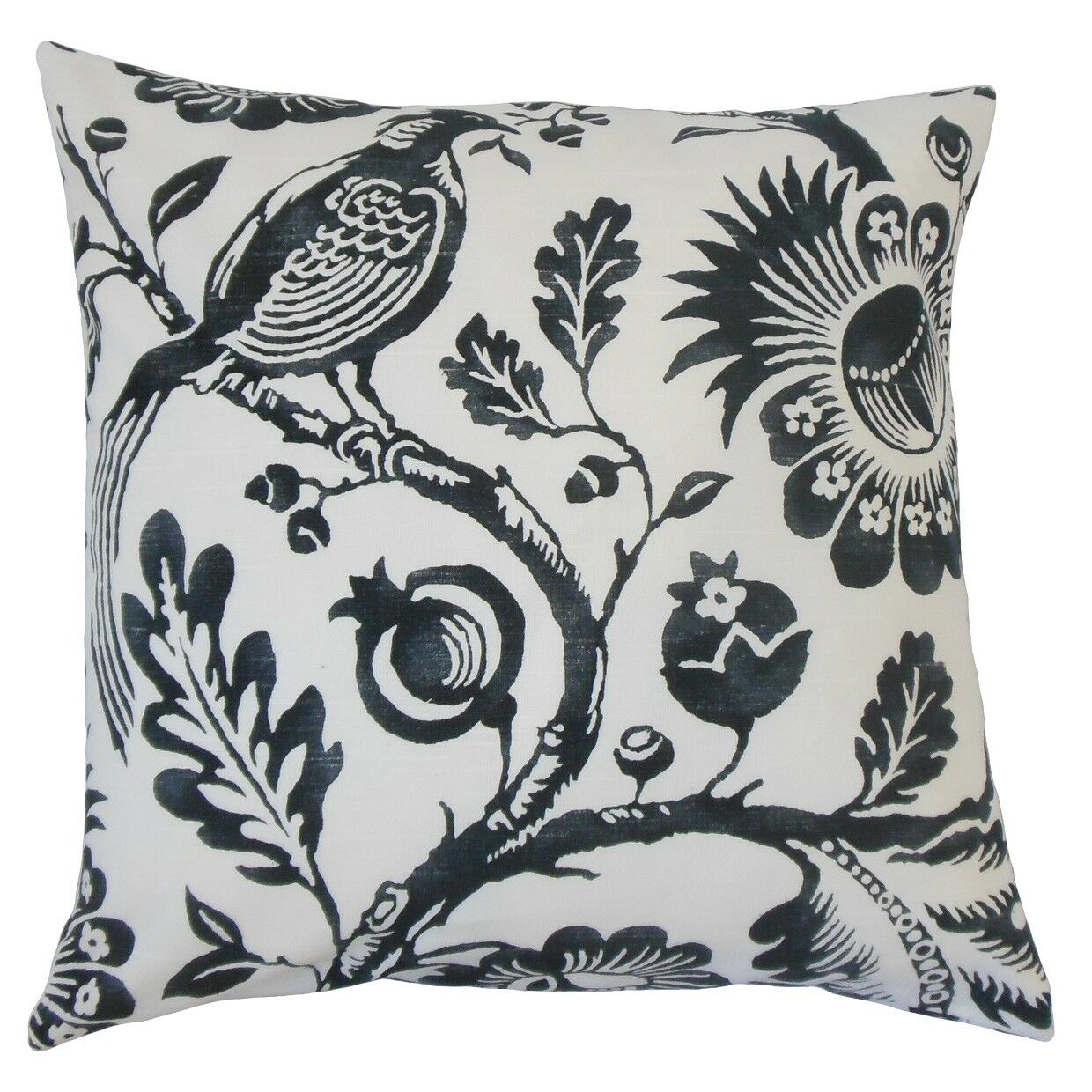 Indivar Floral Cotton Throw Pillow Size: 20