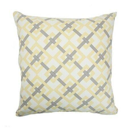 Kaedee Square Knot Cotton Throw Pillow Size: 24