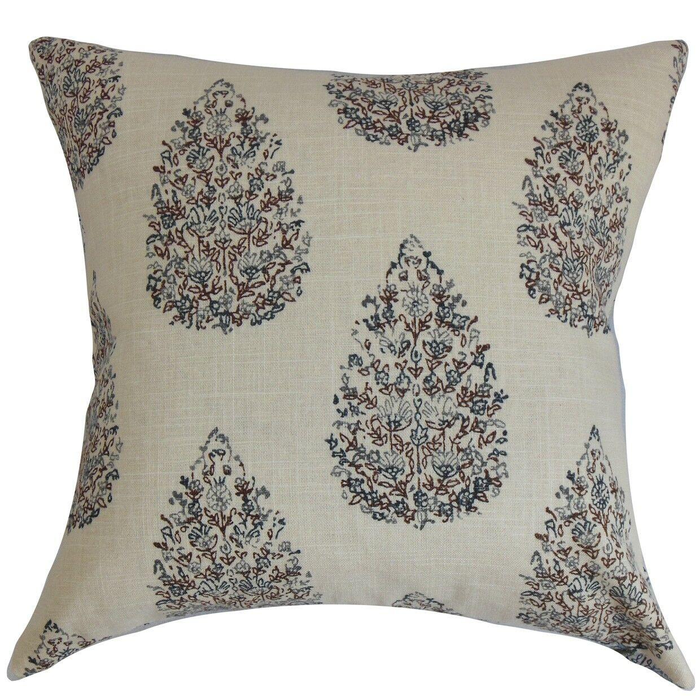 Faeyza Floral Bedding Sham Size: Standard, Color: Indigo