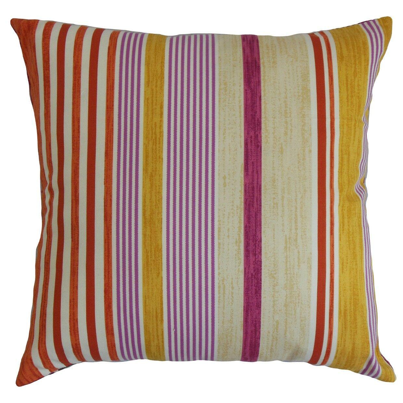Usinsk Striped Cotton Throw Pillow Size: 20