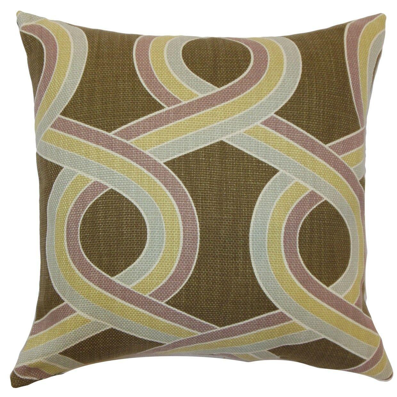 Malva Knots Throw Pillow Size: 24