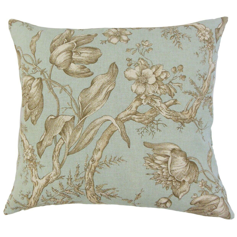 Ilise Floral Bedding Sham Size: King, Color: Seaglass