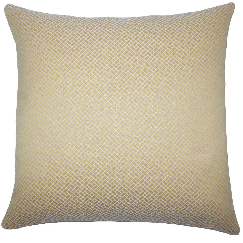Pertessa Geometric Throw Pillow Cover Color: Buttercup