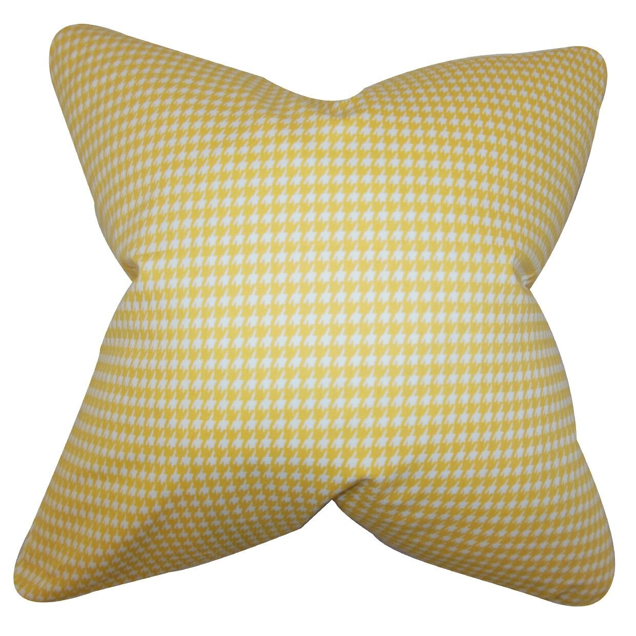 Lviv Houndstooth Bedding Sham Size: King, Color: Yellow