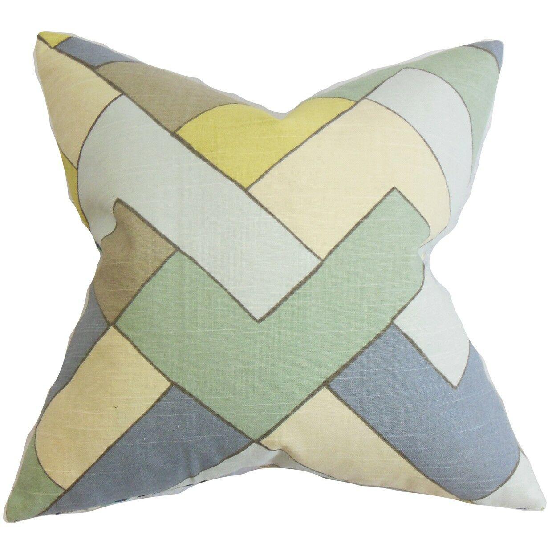 Jeppe Geometric Cotton Throw Pillow Size: 22