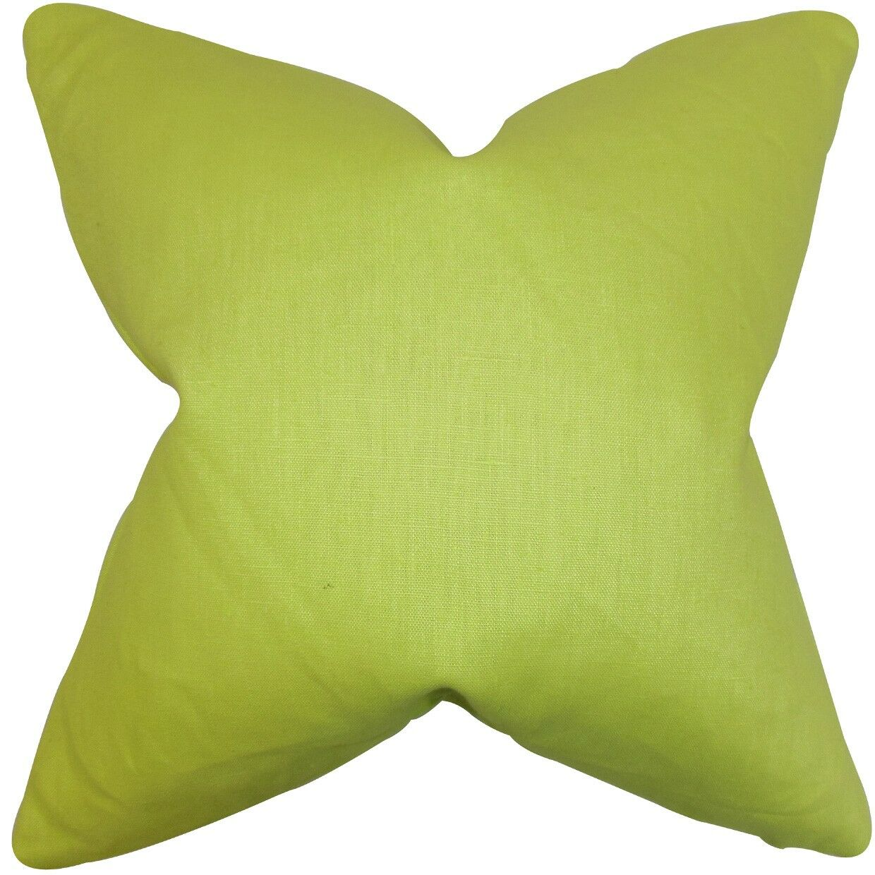 Daumier Solid Linen Throw Pillow Size: 24