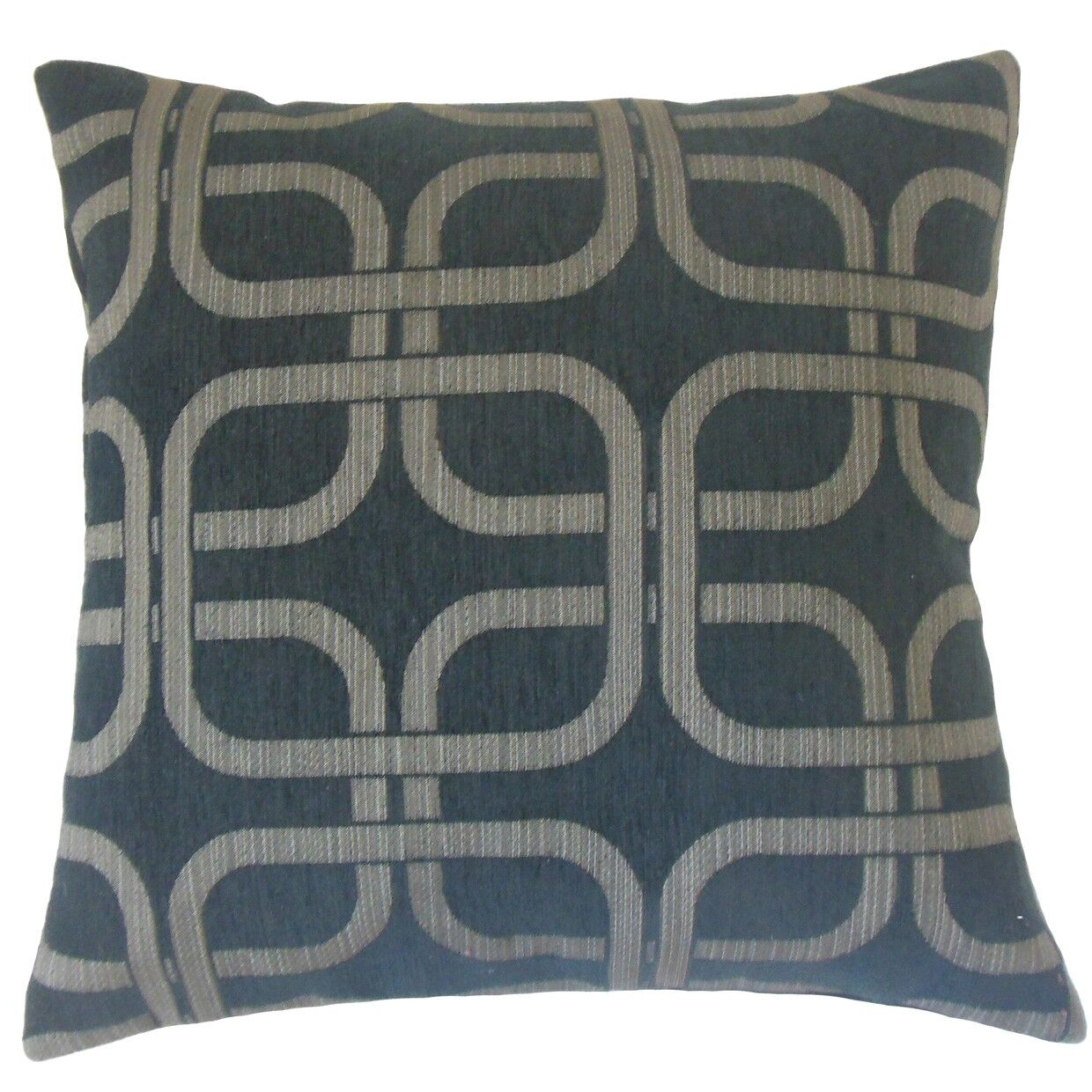 Bertille Geometric Cotton Throw Pillow Cover Color: Nightsky