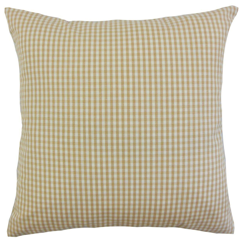 Keats Plaid Bedding Sham Size: Queen, Color: Honey