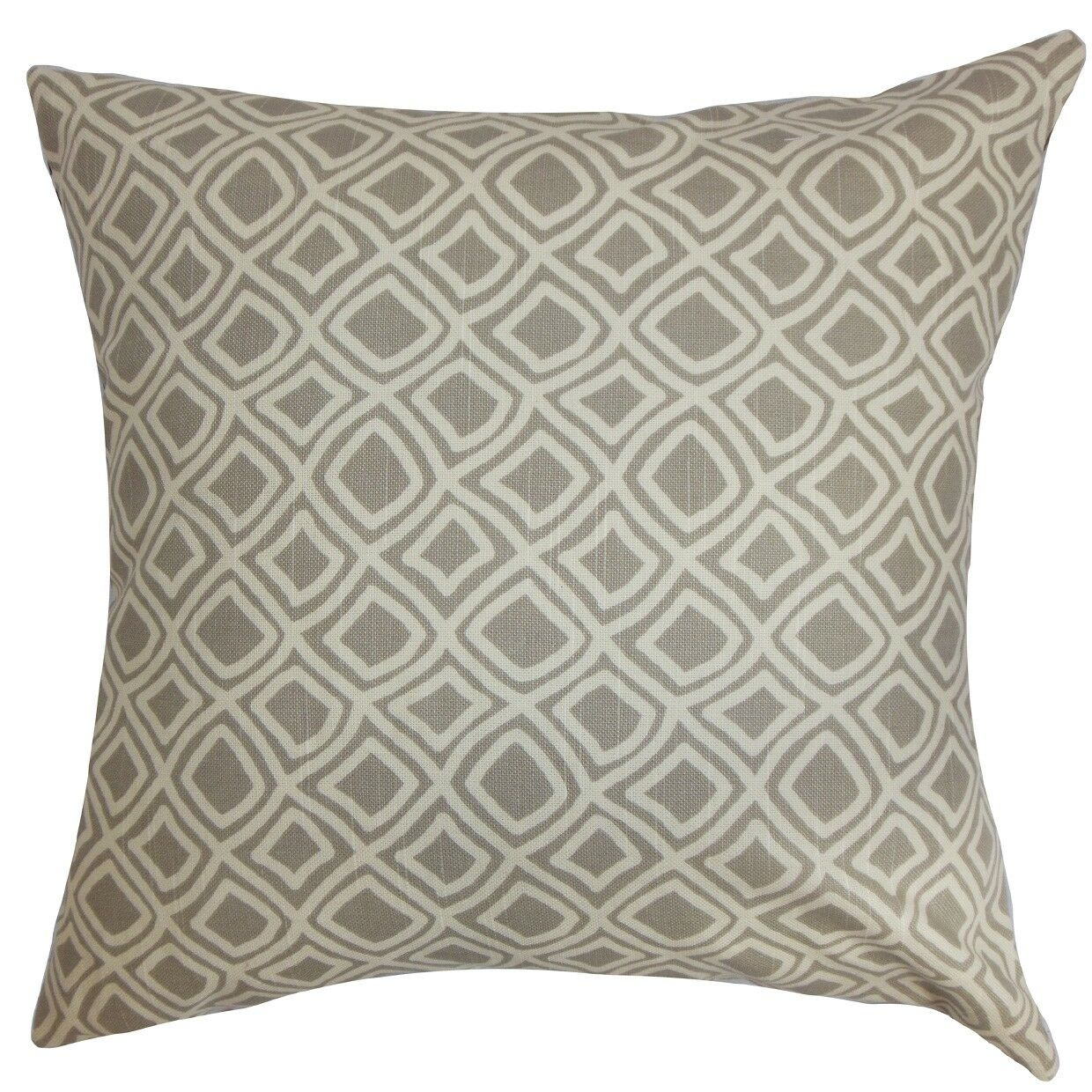 Cacia Geometric Bedding Sham Size: Standard, Color: Gray