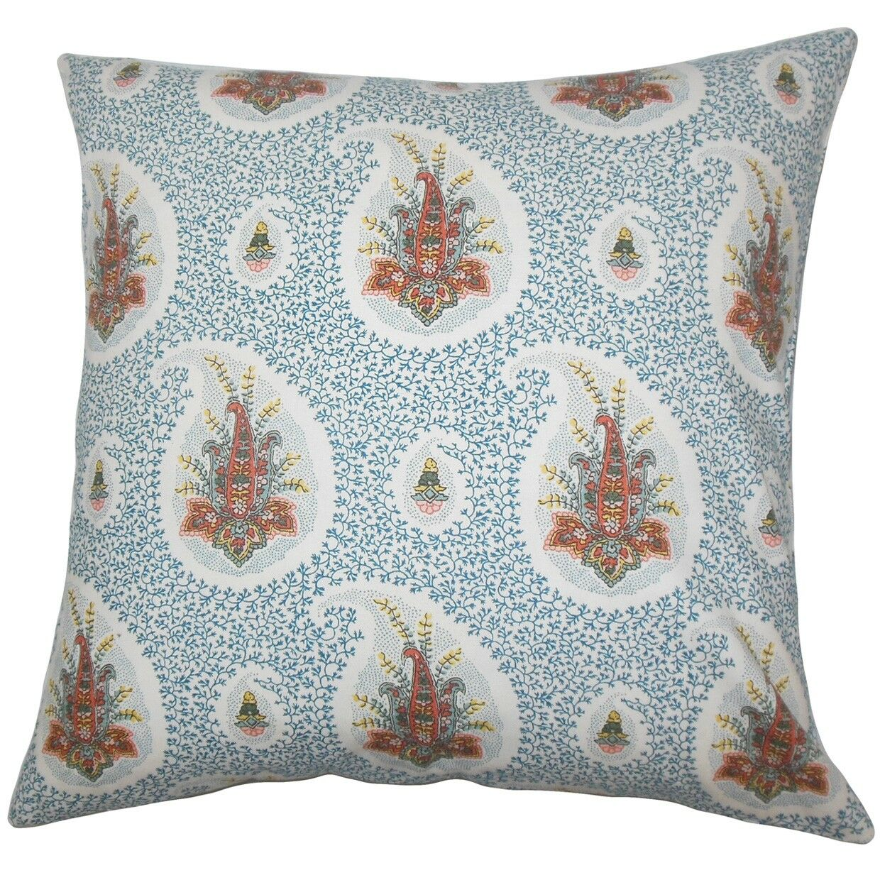Zaci Floral Cotton Throw Pillow Color: Pink, Size: 24