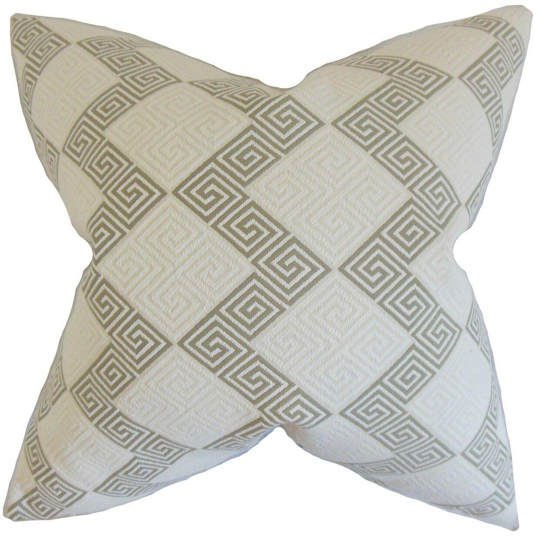 Sandrine Geometric Bedding Sham Size: King, Color: Iron
