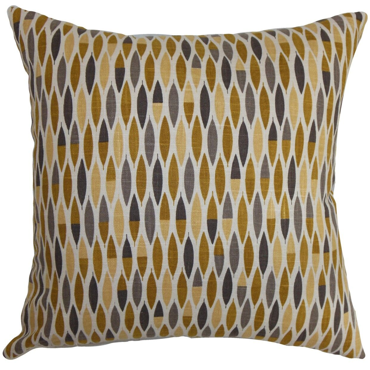 Candie Geometric Bedding Sham Size: Euro, Color: Gold