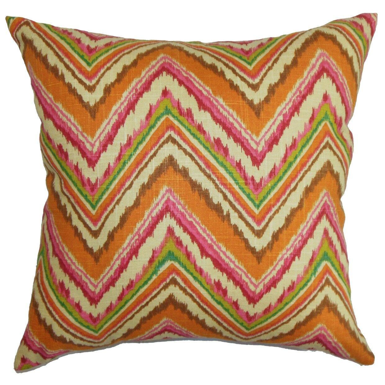 Dayana Zigzag Bedding Sham Color: Orange/Pink, Size: King
