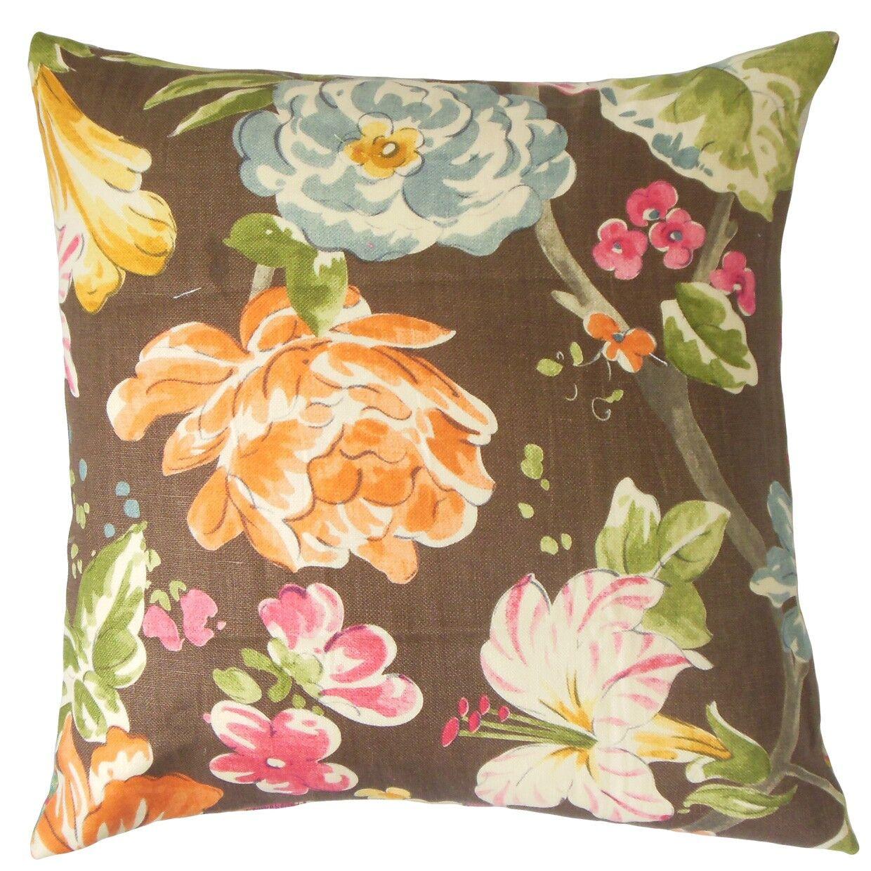 Niao Linen Throw Pillow Color: Terra, Size: 20