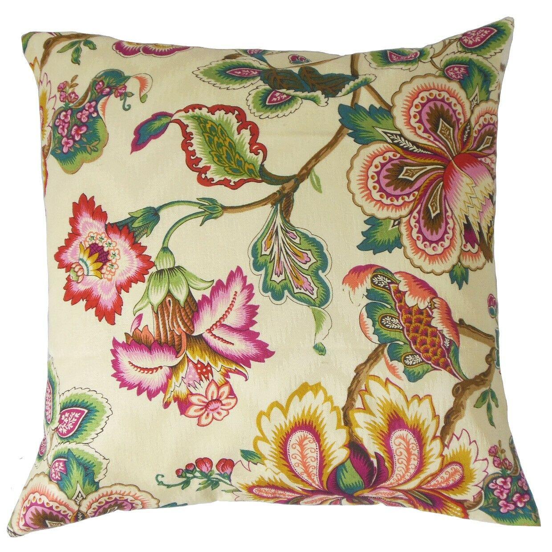 Odonna Cotton Throw Pillow Size: 20