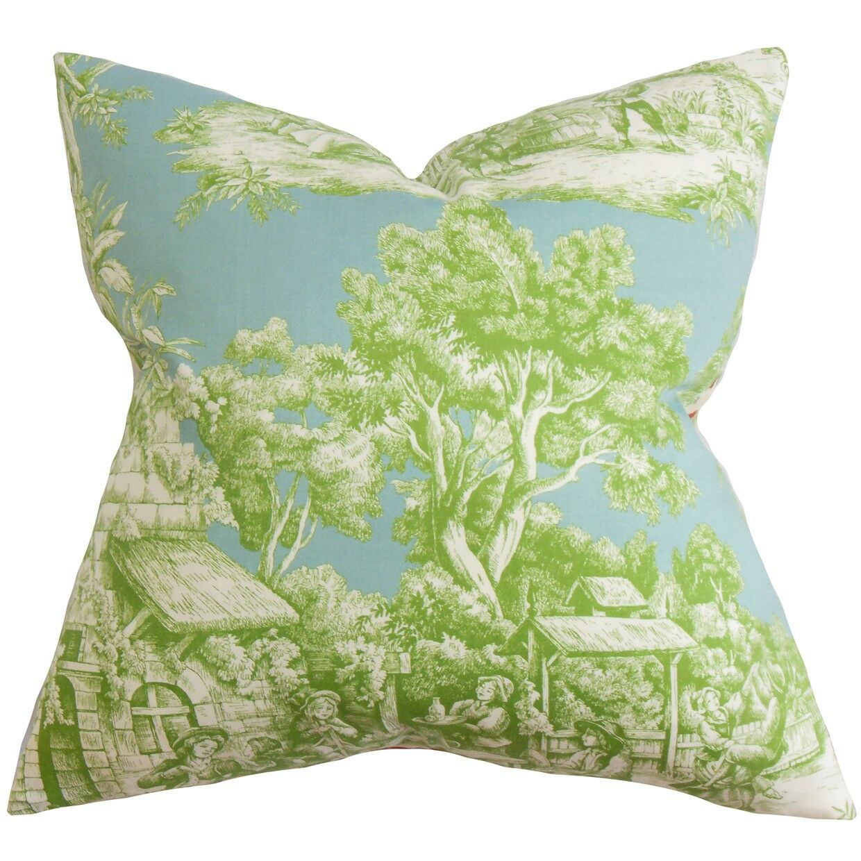 Wellhead Toile Bedding Sham Size: Standard, Color: Green