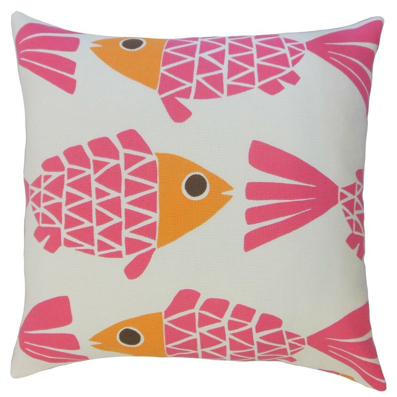 Valmai Graphic Outdoor Throw Pillow Size: 20
