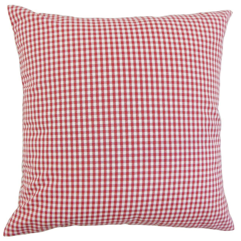 Keats Plaid Bedding Sham Color: Red, Size: King