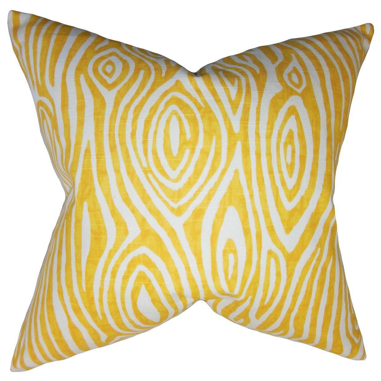 Thirza Swirls Bedding Sham Size: Standard, Color: Yellow