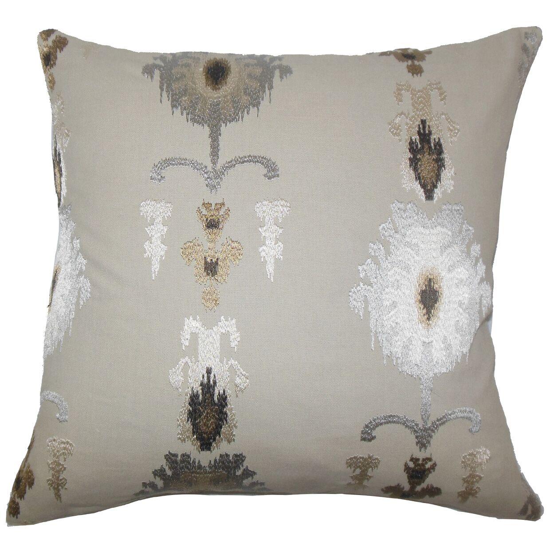 Calico Ikat Bedding Sham Size: Standard, Color: Mushroom