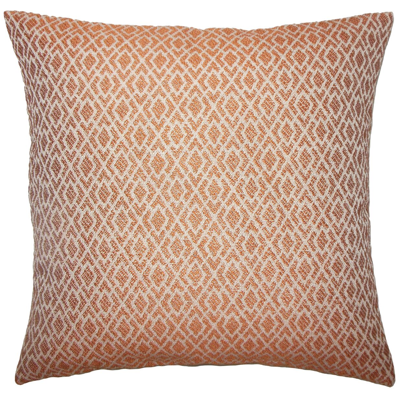Calanthe Geometric Bedding Sham Size: King, Color: Melon