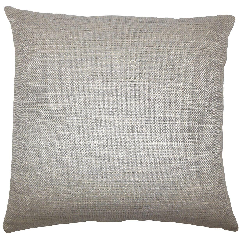 Daker Weave Bedding Sham Color: Stone, Size: Standard